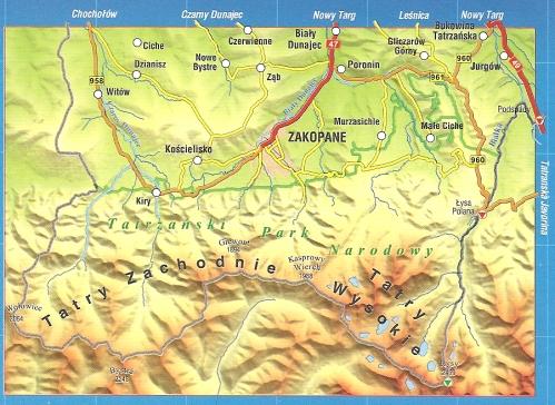 polnische tatra wanderkarte und landkarte zakopane hohe tatra tatry verlag compass. Black Bedroom Furniture Sets. Home Design Ideas
