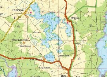 Wanderkarte Masuren Laminiert Teil Sud Landkarte Masurische