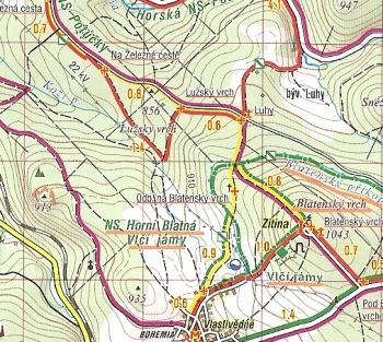 6 Erzgebirge Klinovec Jachymov Wanderkarte Landkarte