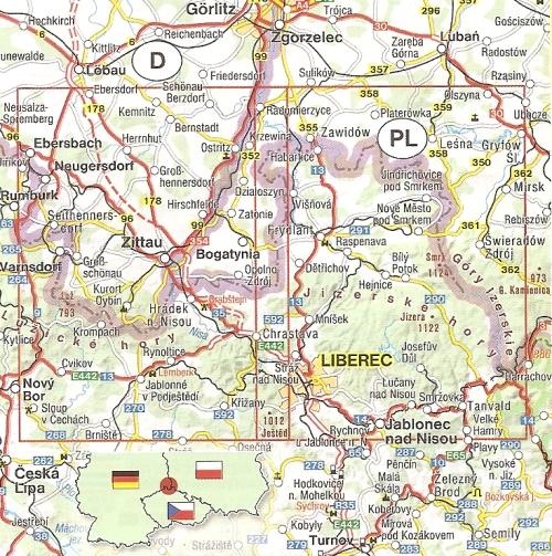 karte dreiländereck deutschland polen tschechien 502: Radkarte Dreiländereck Tschechien Deutschland Polen