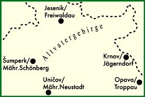 altvatergebirge karte Landkarte Altvatergebirge   Strassenkarte Tschechien   Höfer