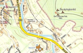bad flinsberg karte Stadtplan Swieradow Zdroj   Landkarte Polen   polenkarten.de bad flinsberg karte